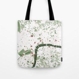 London city map minimal Tote Bag