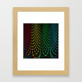 Curtains in abstract Framed Art Print