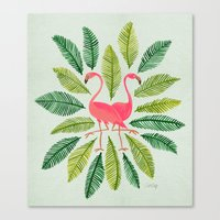 general Canvas Prints featuring Flamingos by Cat Coquillette