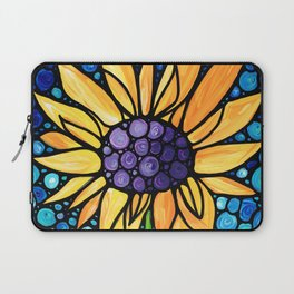Standing Tall - Sunflower Art By Sharon Cummings Laptop Sleeve