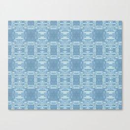 Mirror Pattern Tribal Style 2.0 -  Blue, Blue & Blue Canvas Print