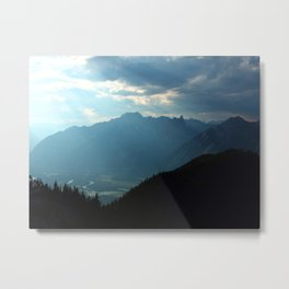View from Sulphur Mountain Metal Print