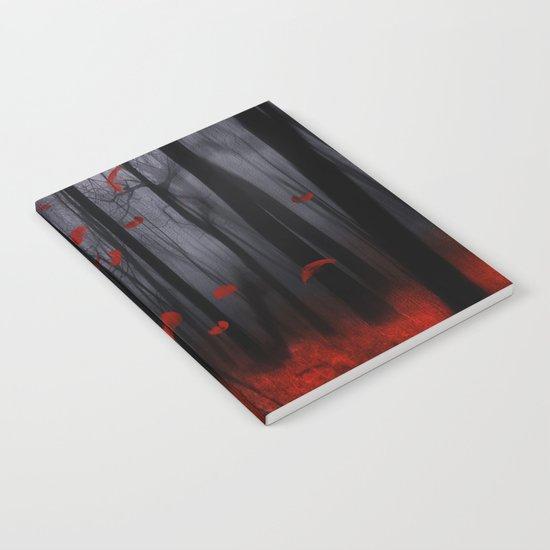 Red feather dance  -  by Viviana Gonzalez Notebook