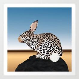 Rabbit Guepard Pattern Art Print