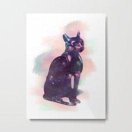 Egyptian cat Metal Print