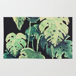 black monstera Rug