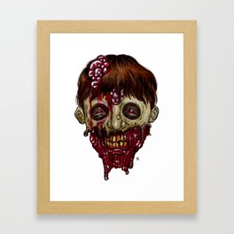 Heads of the Living Dead Zombies: Half Face Zombie Framed Art Print