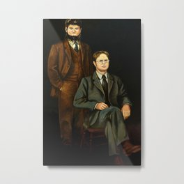 Dwight And Mose Painting Photographic Print Metal Print