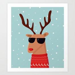 Merry Christmas Dude Art Print