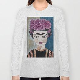 Little Frida Kahlo Long Sleeve T-shirt