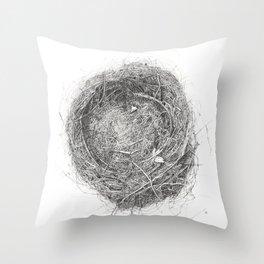 Temporary Housing Throw Pillow