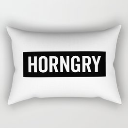 Horngry Funny Quote Rectangular Pillow