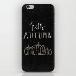 Hello Autumn iPhone Skin