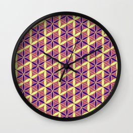 Flower of Life Pattern 15 Wall Clock