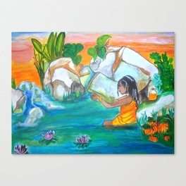 Ochun Bathing Canvas Print