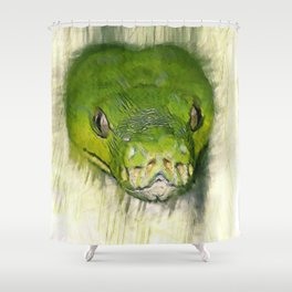 Python Art Shower Curtain