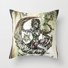 Champagne Of The Dead Throw Pillow