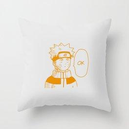 Naruto - OK Throw Pillow