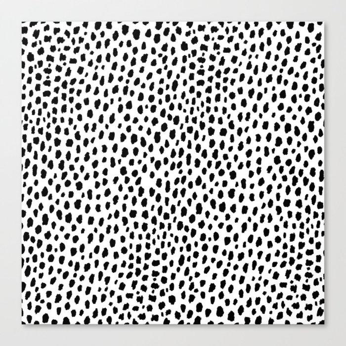 Dalmatian Spots (black/white) Leinwanddruck