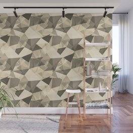 Abstract Geometrical Triangle Patterns 4 Valspar America Wood Yellow - Homey Cream - Glow Home Wall Mural
