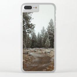 A Walk Through the Trees Clear iPhone Case