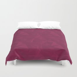Abstract Polygon Pantone Vivacious 19-2045 Geometrical Low Poly Triangle Pattern 1 Duvet Cover