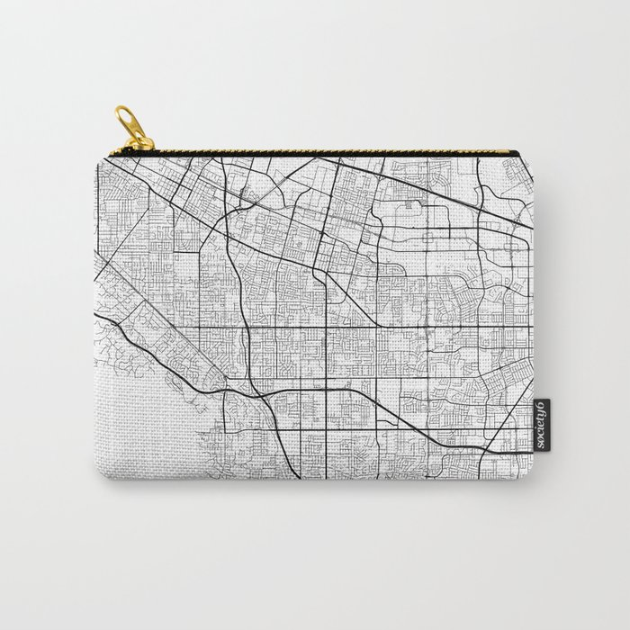 Minimal City Maps - Map Of Sunnyvale, California, United States Carry-All Pouch