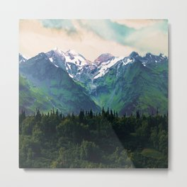 Escaping from woodland heights I Metal Print