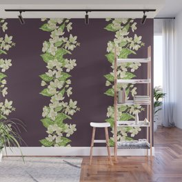 Jasmine seamless blooming branch Wall Mural