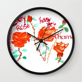 Every Rose Wall Clock