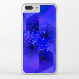 Suprematic Fractal Composition N4 Clear iPhone Case
