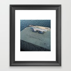 teeth smile Framed Art Print