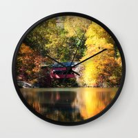 serenity Wall Clocks featuring Serenity by Captive Images Photography