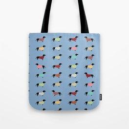 Dachshund - Blue Sweaters #708 Tote Bag
