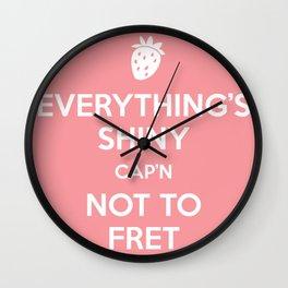 Everything's Shiny Cap'n! - Kaylee Wall Clock