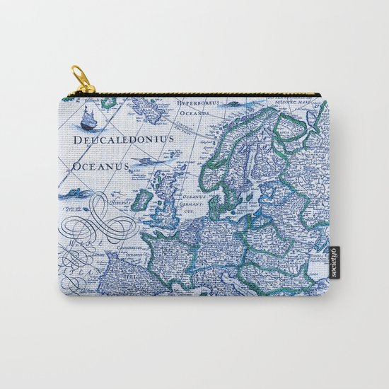 Royal Vintage Map Carry-All Pouch