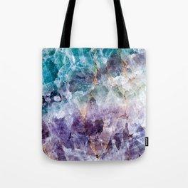 Turquoise & Purple Quartz Crystal Tote Bag