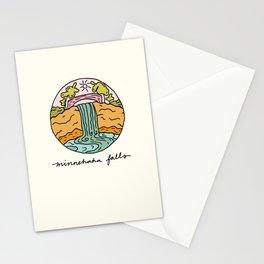 minnehaha falls illo Stationery Cards