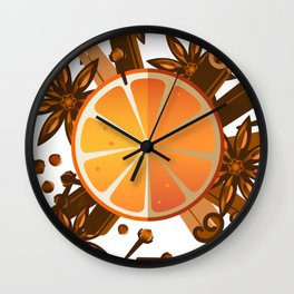 Christmas spices Wall Clock