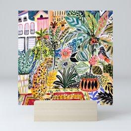 Karen Fields Tiger in the City Mini Art Print