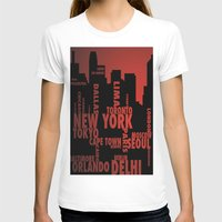 cities T-shirts featuring Cities by Colin Webber