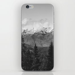 Snow Capped Sierras - Black and White Nature Photography iPhone Skin