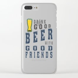 good beer - I love beer Clear iPhone Case