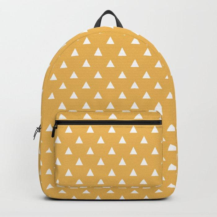 mustard yellow triangle pattern Rucksack