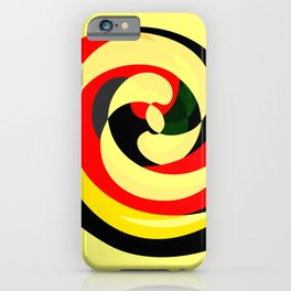 Abstract Spirals iPhone Case