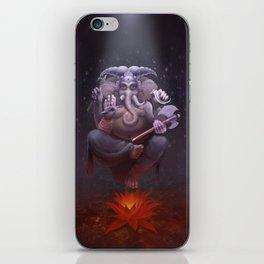 Ganesha, the Smoke Hued Lord iPhone Skin
