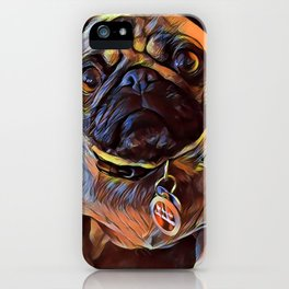 The PUG from our POP YOUR POOCH line iPhone Case