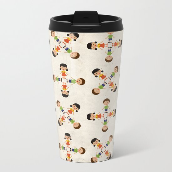 Children pattern Metal Travel Mug