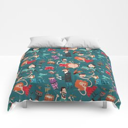 Percussion Pattern Comforters