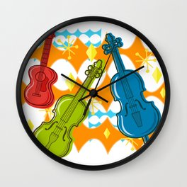 Sunny Grappelli String Jazz Trio Composition Wall Clock